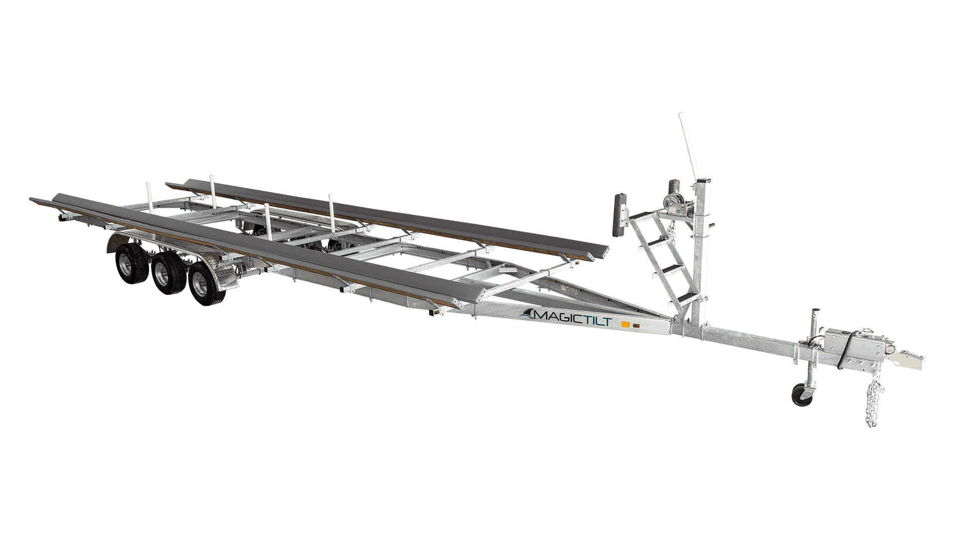 Galvanized Pontoon Series Triple Axle